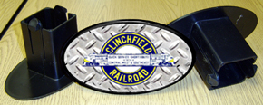 Hitch Cover Clinchfield Logo