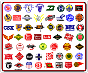 Tin Sign Railroad Logos