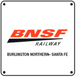 BNSF Logo 6x6 Tin Sign