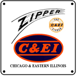 C&EI Zipper Logo 6x6 Tin Sign