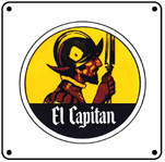 EL Capitan Old Logo 6x6 Tin Sign