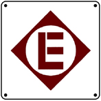 EL Logo 6x6 Tin Sign