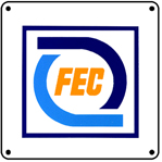 FEC New Logo 6x6 Tin Sign