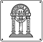 Georgia RR Logo 6x6 Tin Sign