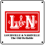 L&N Logo 6x6 Tin Sign