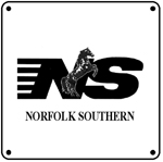 NS Logo 6x6 Tin Sign