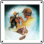 Chessie Dreaming Logo 6x6 Tin Sign