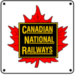 CN Leaf Logo 6x6 Tin Sign