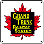 Grand Trunk Logo 6x6 Tin Sign