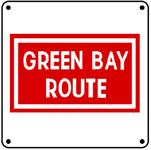 Green Bay Logo 6x6 Tin Sign