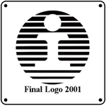 IC 2001 Logo 6x6 Tin Sign