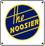 Monon Hoosier Logo 6x6 Tin Sign