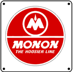 Monon Red Logo 6x6 Tin Sign
