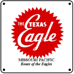 MoPac TX Eagle Logo 6x6 Tin Sign