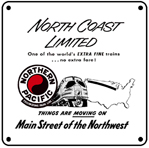 NP Northcoast Ltd 6x6 Tin Sign