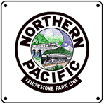 NP Dual Logo 6x6 Tin Sign