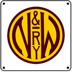 N&W RWY Logo 6x6 Tin Sign