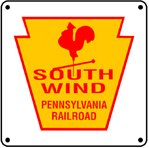 PRR SouthWind Logo 6x6 Tin Sign