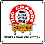 D&RGW Scenic Line 6x6 Tin Sign