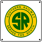 Southern Railway 6x6 Tin Sign