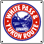 White Pass Logo 6x6 Tin Sign