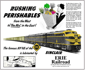 Tin Sign Erie and Sinclair Oil