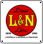 L&N Dixie Line Logo 6x6 Tin Sign