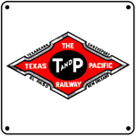 T&P Logo 6x6 Tin Sign
