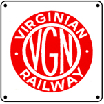 Virginian Logo 6x6 Tin Sign