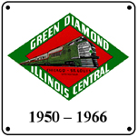 IC Green Diamond Logo 6x6 Tin Sign