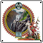Colo Midland Hells Gate 6x6 Tin Sign