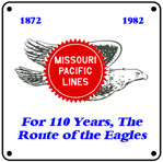 MoPac Flying Eagle 6x6 Tin Sign