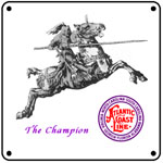 ACL Champion Logo 6x6 Tin Sign
