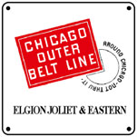 EJ&E Outer Belt 6x6 Tin Sign