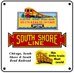 South Shore Logo 6x6 Tin Sign