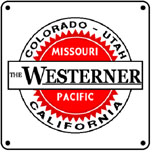 MoPac Westerner 6x6 Tin Sign