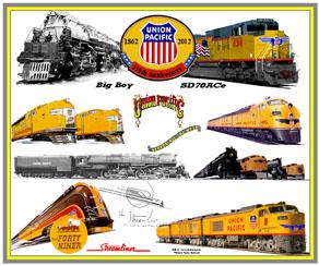 Up Union Pacific Railroad Railways Choo Choo Trains