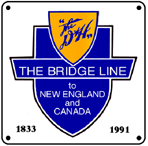 D&H Bridge Logo 6x6 Tin Sign