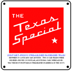 TX Special Logo 6x6 Tin Sign