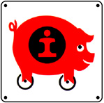 IC PIG Logo 6x6 Tin Sign