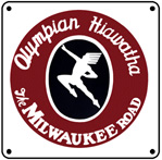 Milwaukee Olympian 6x6 Tin Sign