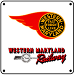 WM 1950 Logo 6x6 Tin Sign