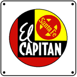 EL Capitan Logo 6x6 Tin Sign
