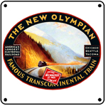 Milw Olympian Electric Logo 6x6 Tin Sign