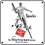 Milwaukee Sparks Logo 6x6 Tin Sign