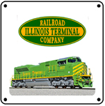 Illinois Terminal Heritage 6x6 Tin Sign