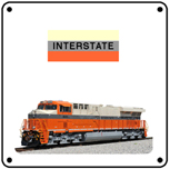 Interstate Heritage 6x6 Tin Sign