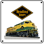 Reading Heritage 6x6 Tin Sign