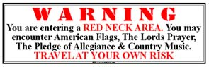 Tin Sign Red Neck