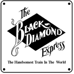 LV Black Diamond Logo 6x6 Tin Sign
